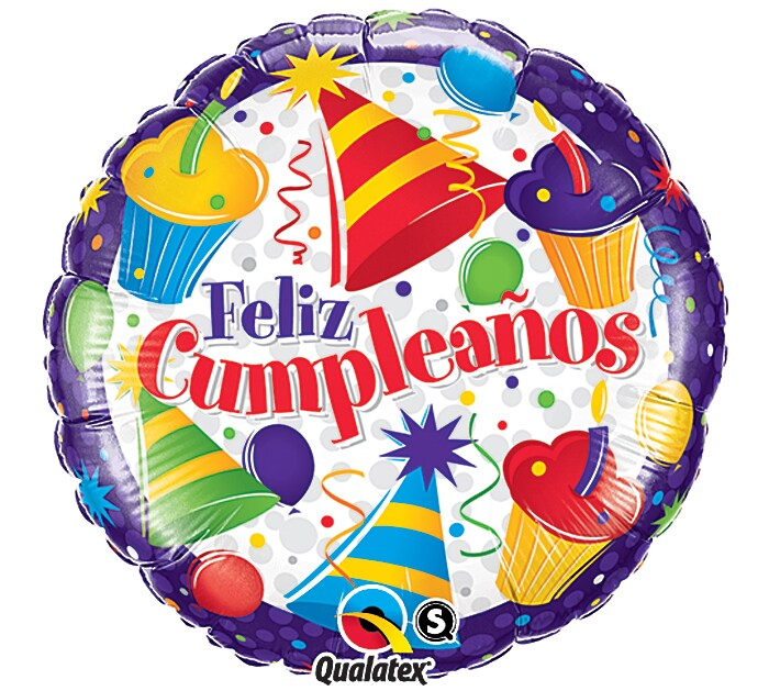 Birthday (Spanish) Mylar Balloon, #10